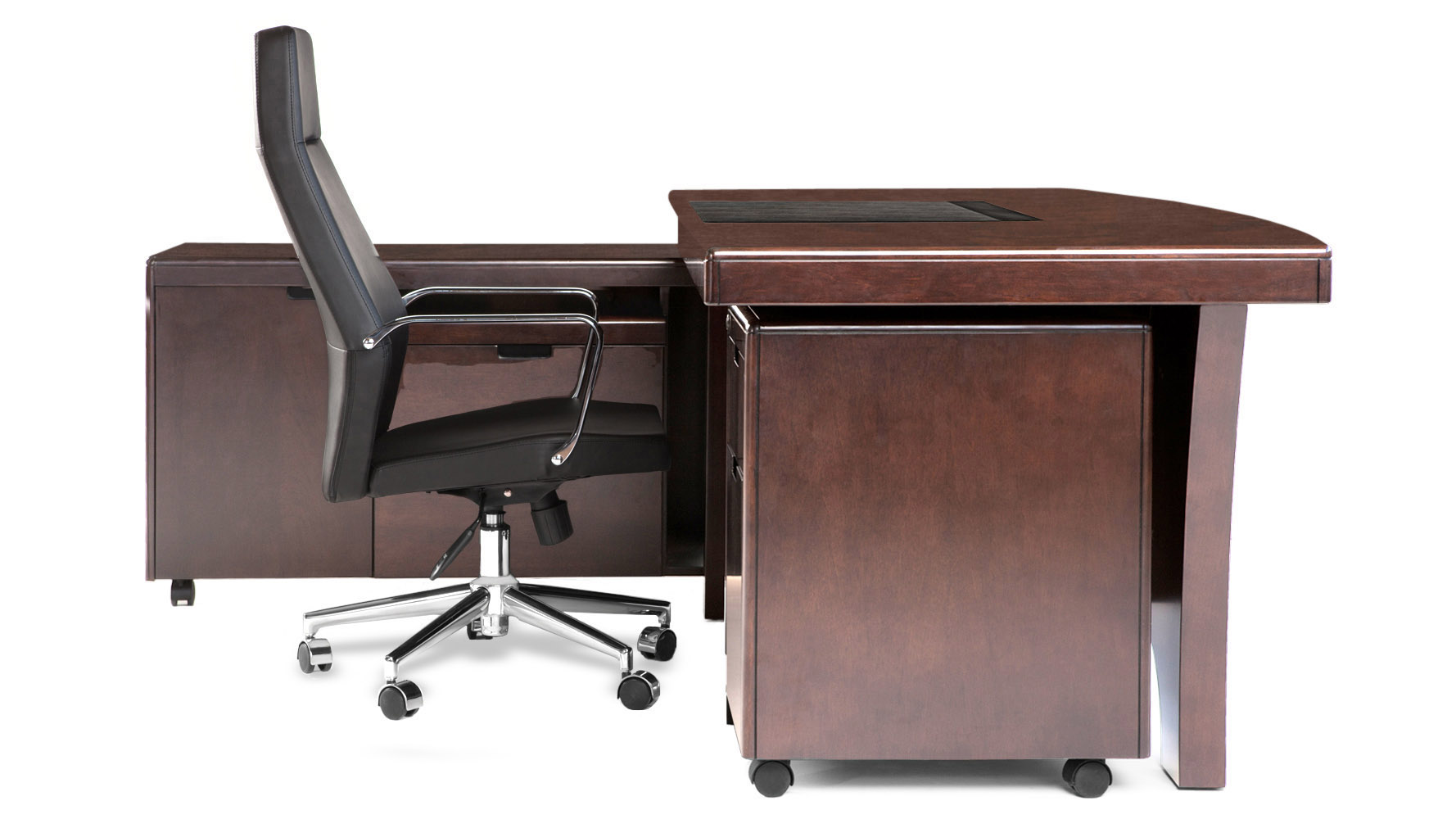 small tables for office. Light Quincy Modern Wood Desk With Rolling Return And File Cabinet | Zuri Furniture Small Tables For Office