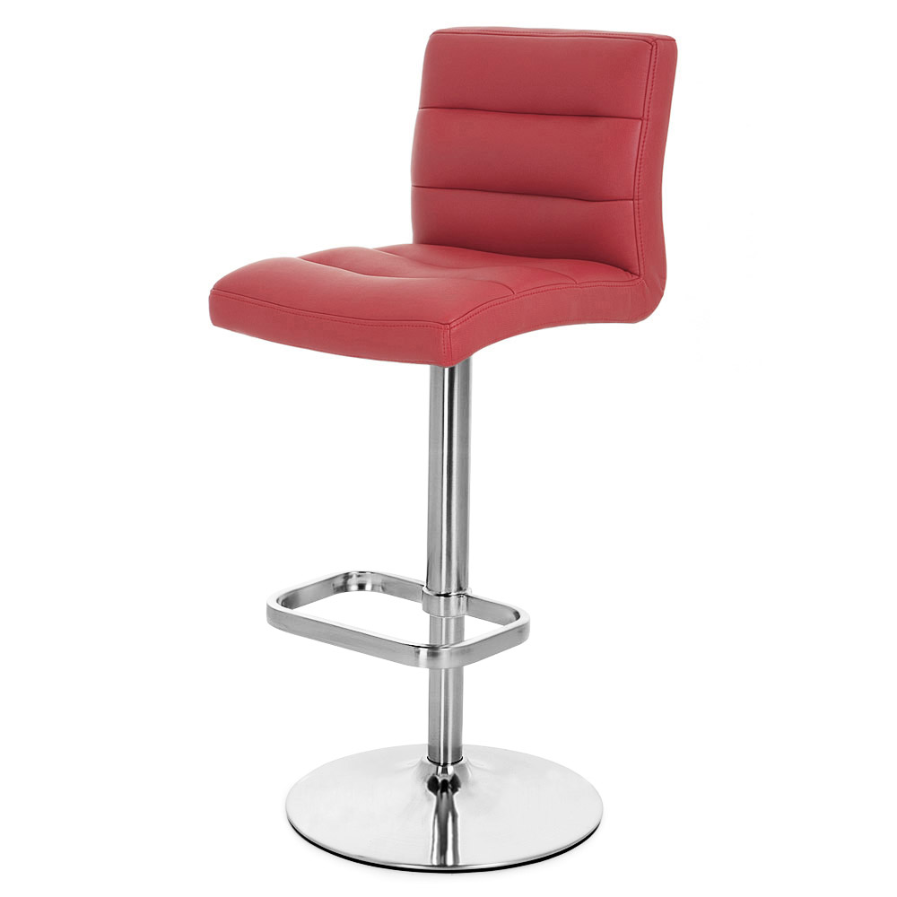 Exceptionnel Lush Adjustable Height Swivel Armless Bar Stool With Chrome Base | Zuri  Furniture