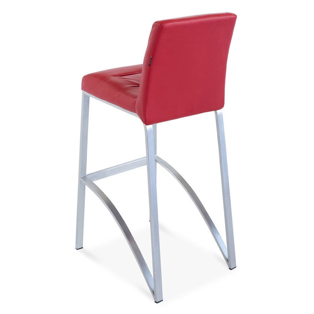 Lynx Bar Stool In Bar Height With Metal Base Zuri Furniture
