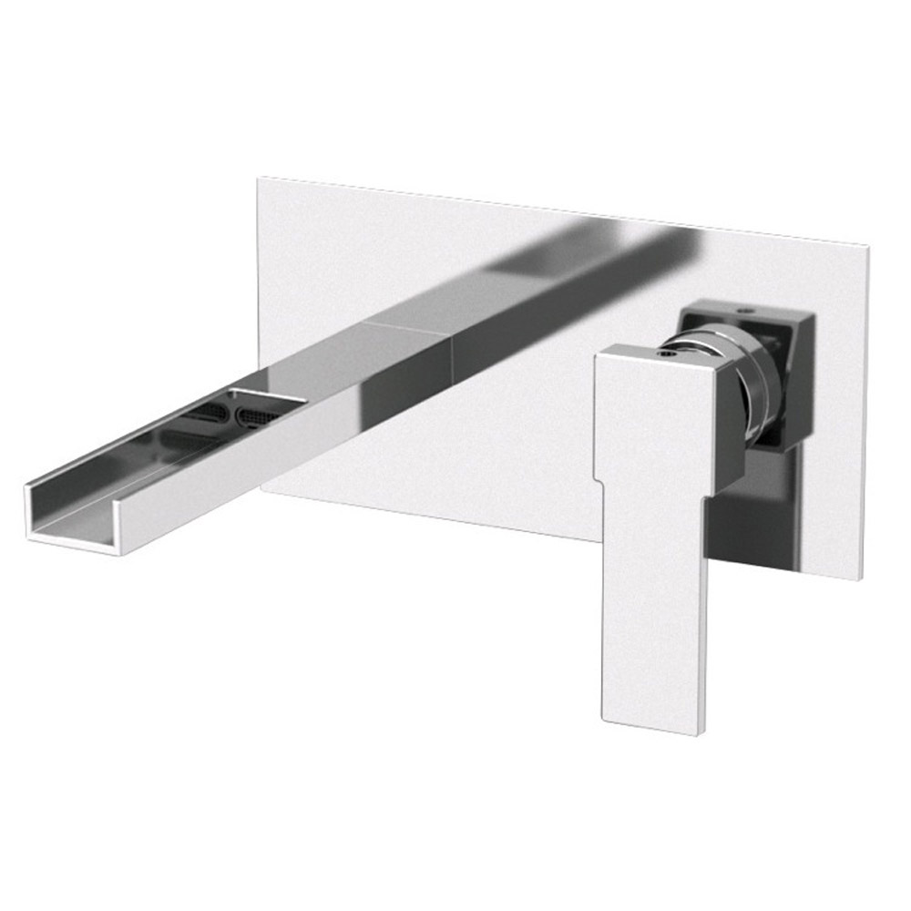 BATH / Bathroom Faucets / Qubika Cascade Wall Mounted Horizontal Sink ...