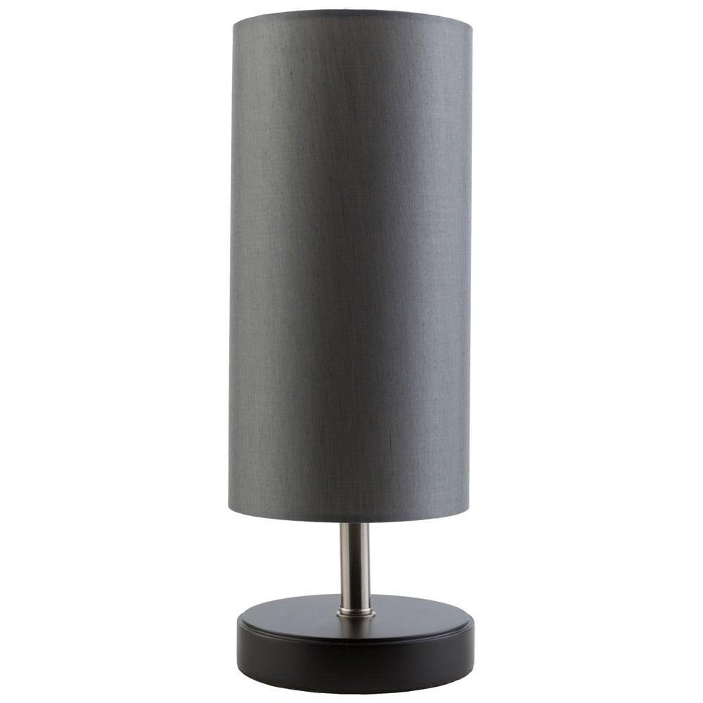Renard Wood Base And Faux Silk Table Lamp Black Zuri