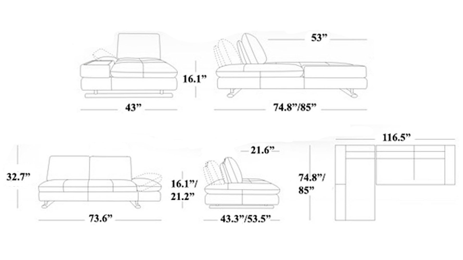 Average sofa length thesofa Dimension table a manger