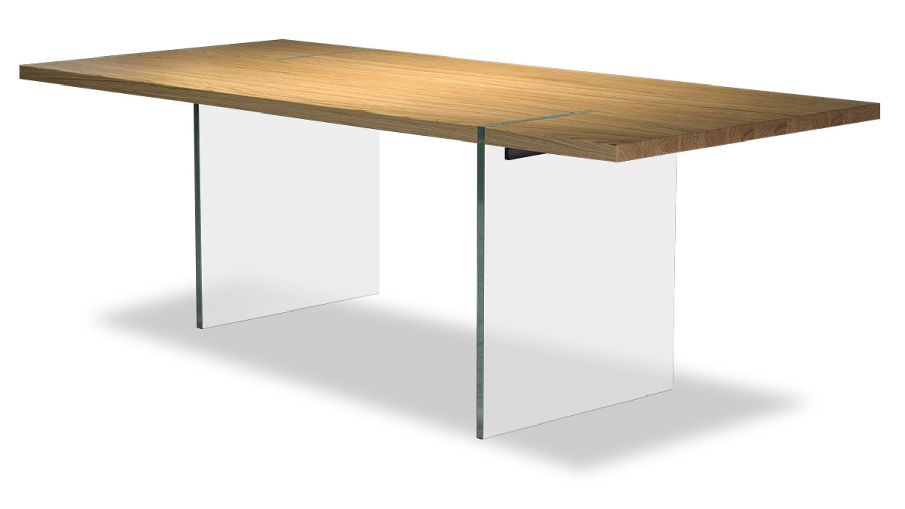 Rive Wood And Gl Dining Table
