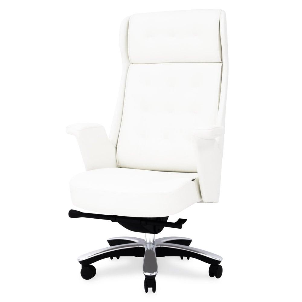 Rockefeller Genuine Leather Aluminum Base High Back Executive Chair | Zuri  Furniture
