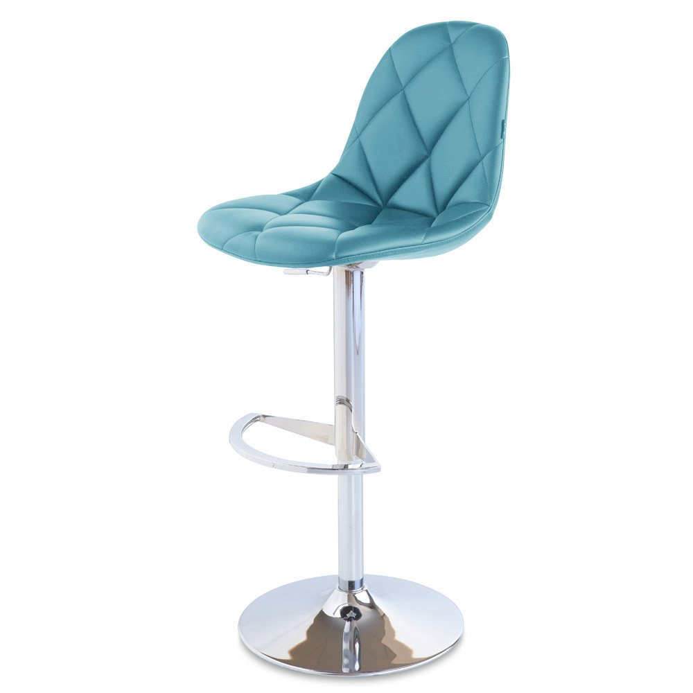 Romy Adjustable Height Swivel Armless Bar Stool Zuri