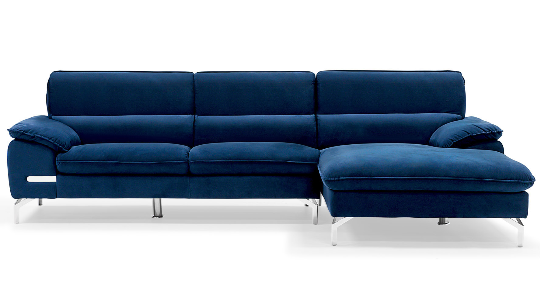 Top Sapphire Blue Sectional Set with Chaise | Zuri Furniture PA74