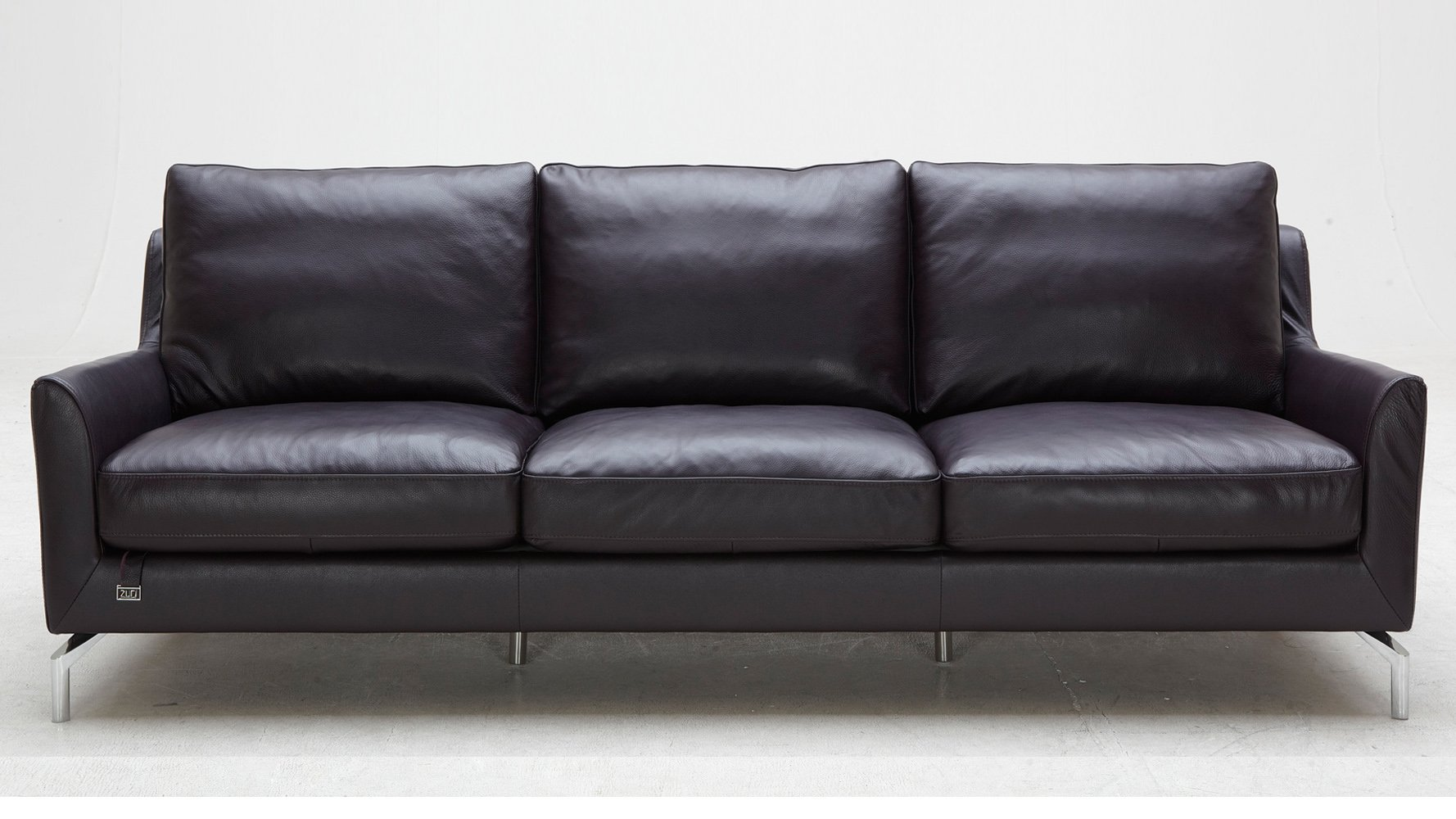 purple saxon leather sofa set with two chairs zuri furniture. Black Bedroom Furniture Sets. Home Design Ideas