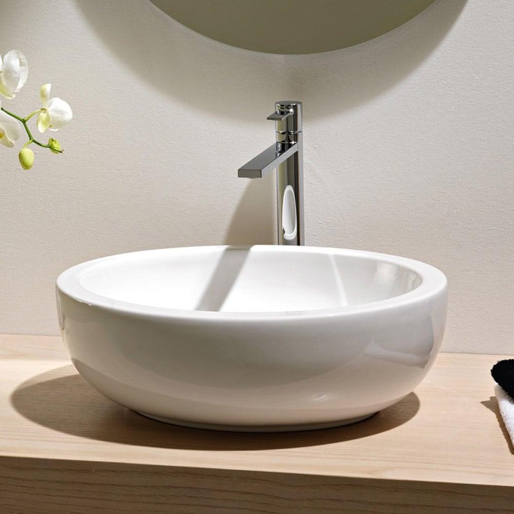 Wide Vessel Sink : Home / BATH / Bathroom Sinks / Planet Vessel Sink