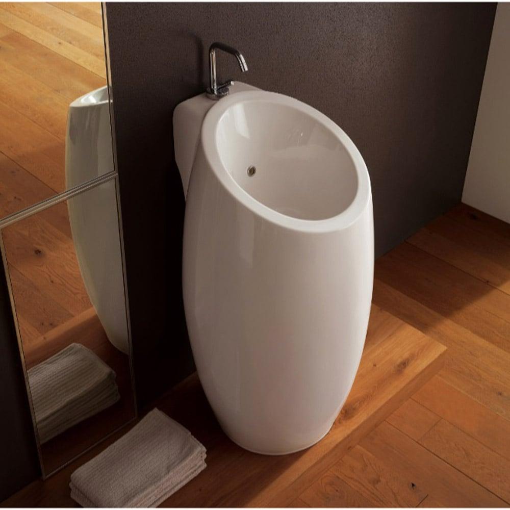 Round Pedestal Sink : Home / BATH / Bathroom Sinks / Planet Pedestal Sink