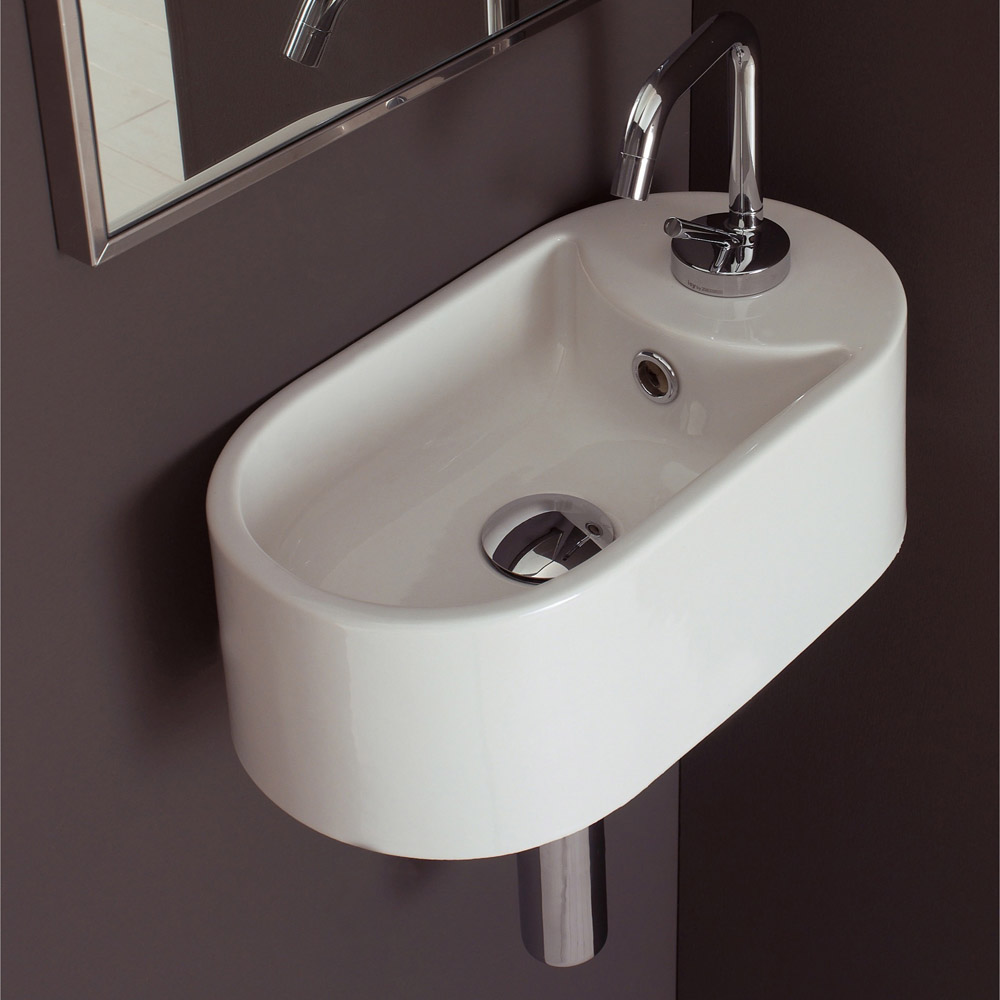 Sink Attached To Wall : Home / BATH / Bathroom Sinks / Seventy Collection Wall Mounted Sink