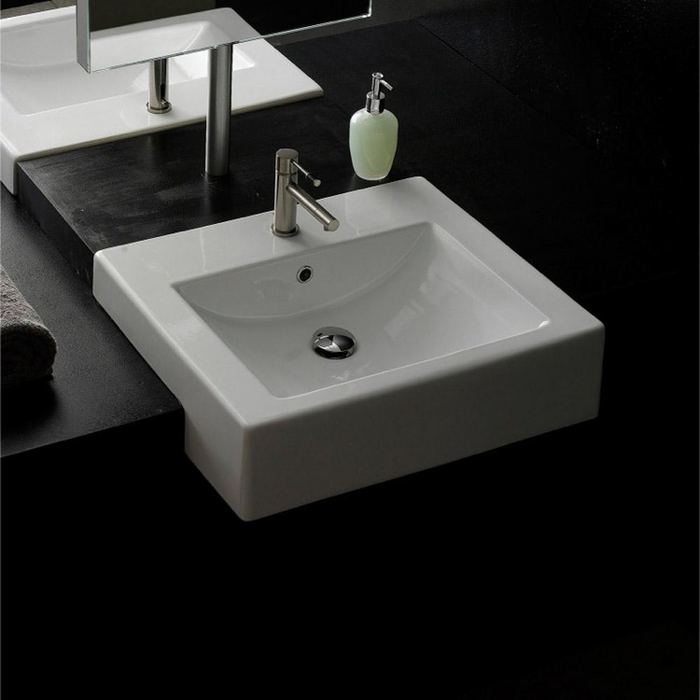 Square Semi-Recessed Sink