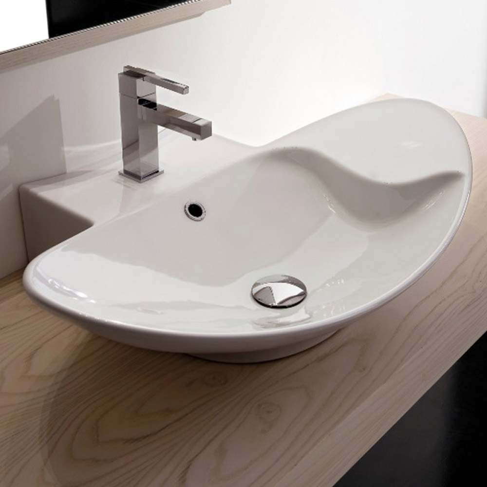 large bathroom sinks zefiro oblong sink zuri furniture 13411