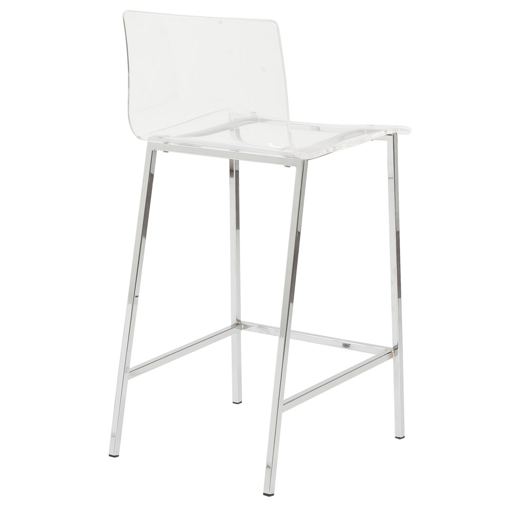 Sia Contemporary Acrylic Bar Stool 2 Piece Set Zuri