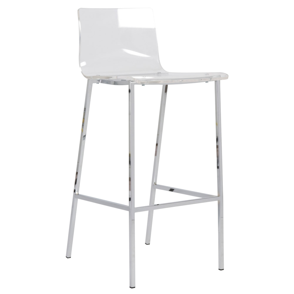 Acrylic Barstool Sia Contemporary Acrylic Bar Stool 2 Piece Set Zuri Furniture