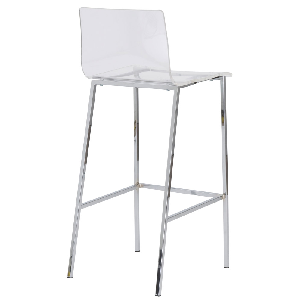 Sia Contemporary Acrylic Bar Stool 2 Piece Set Zuri Furniture