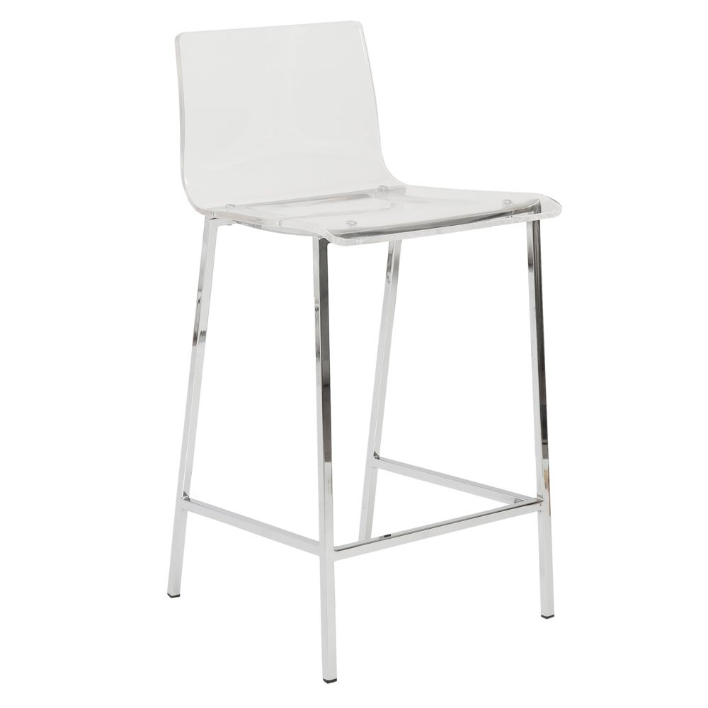 Sia Acrylic Counter Stool - Set of 2