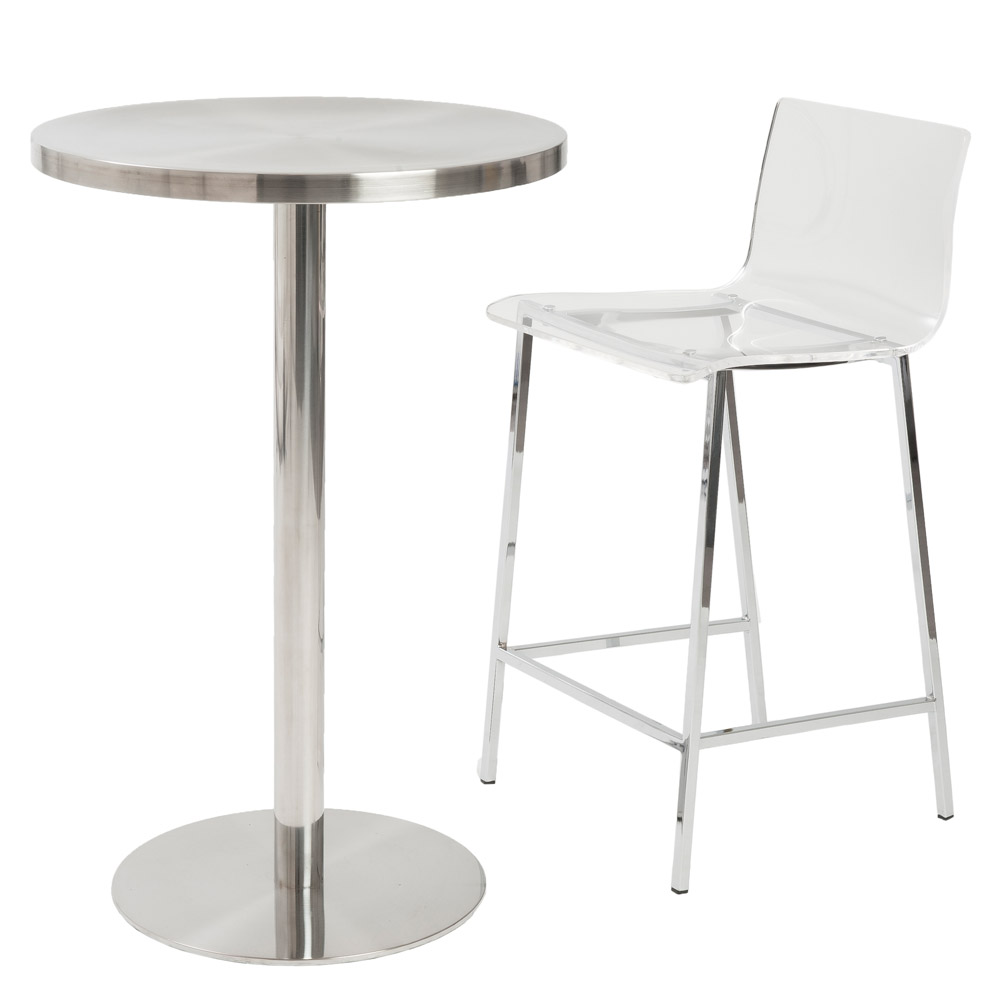 Acrylic Barstool Sia Contemporary Acrylic Counter Stool 2 Piece Set Zuri Furniture