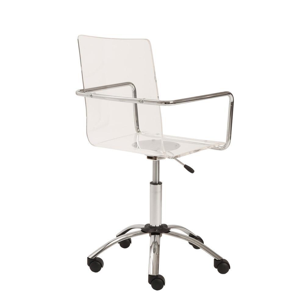 Sia Contemporary Acrylic Office Chair Zuri Furniture