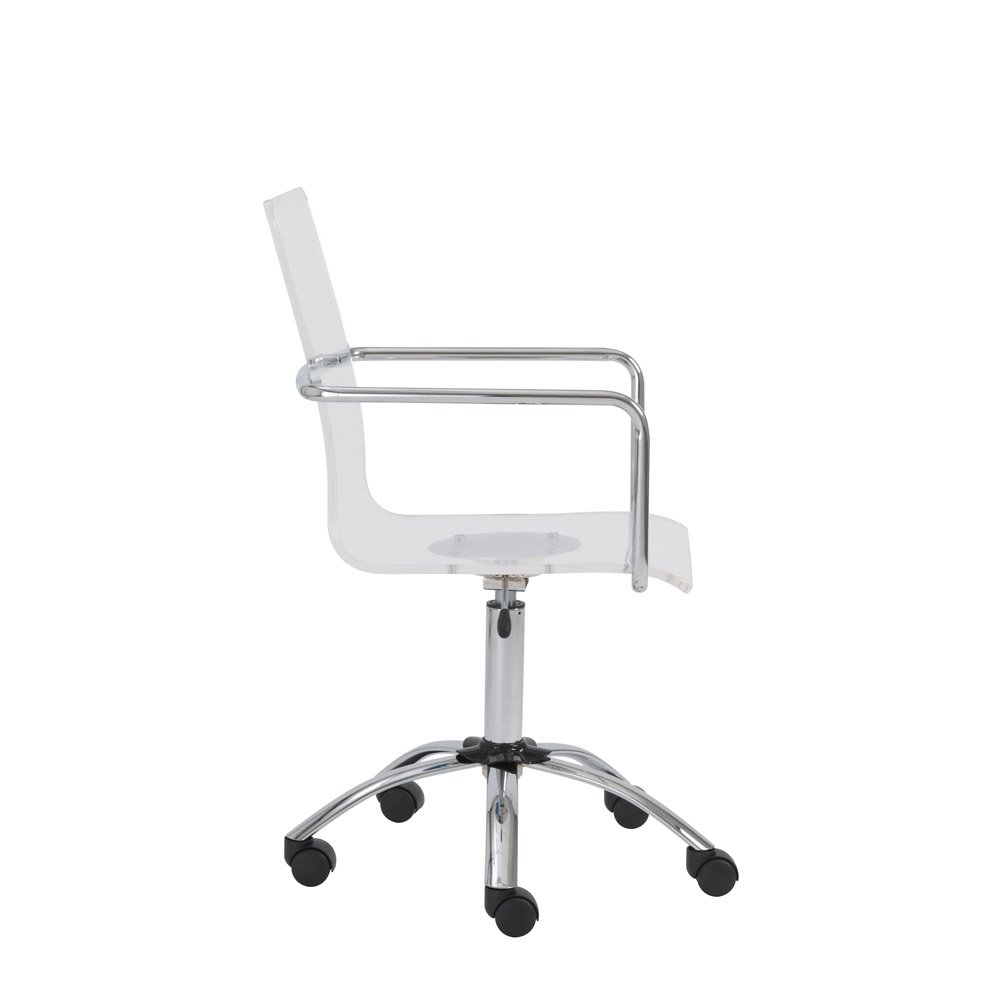 Sia Contemporary Acrylic Office Chair Zuri Furniture