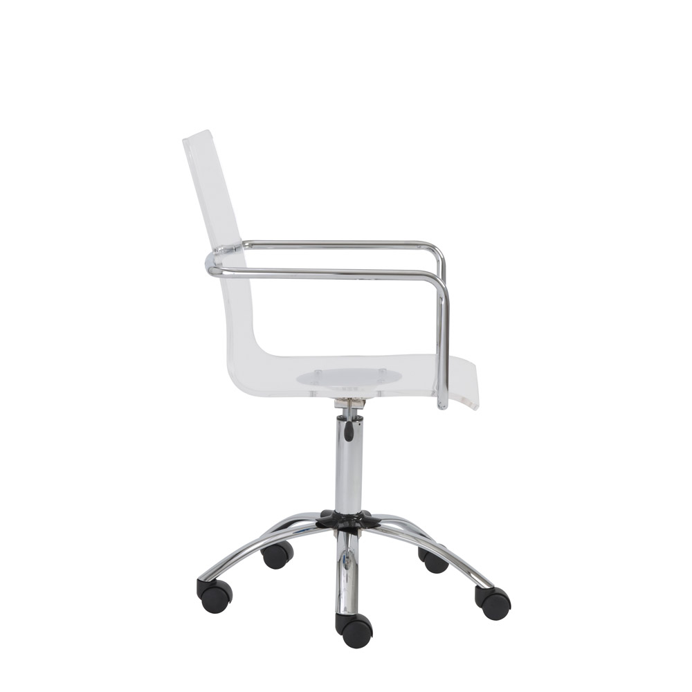 Acrylic office chairs White Table Sia Acrylic Office Chair Poephyuthaeme Sia Contemporary Acrylic Office Chair Zuri Furniture