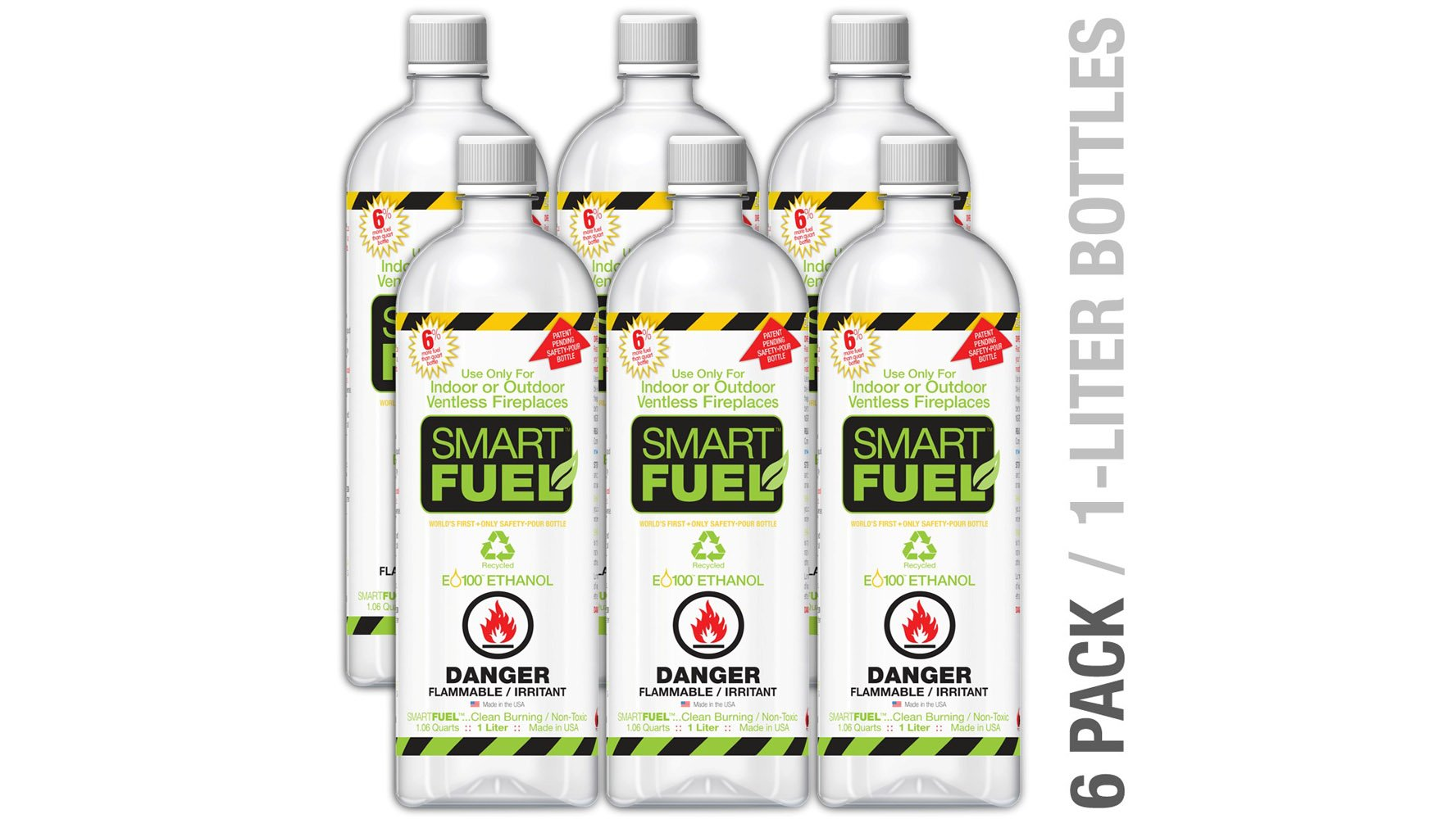 Smart Liquid Bio Ethanol Fuel 6 Pack Zuri Furniture