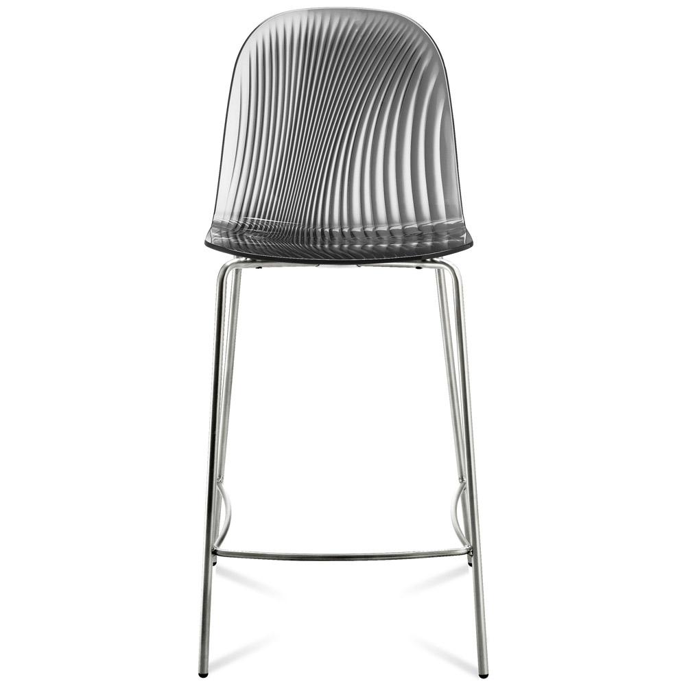 Chrome frame smoke bar stool zuri furniture - Teal blue bar stools ...