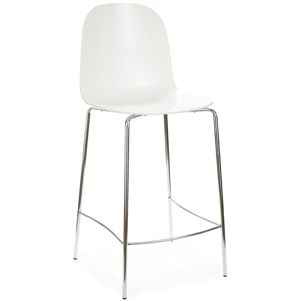 Chrome Frame Smoke Bar Stool Zuri Furniture
