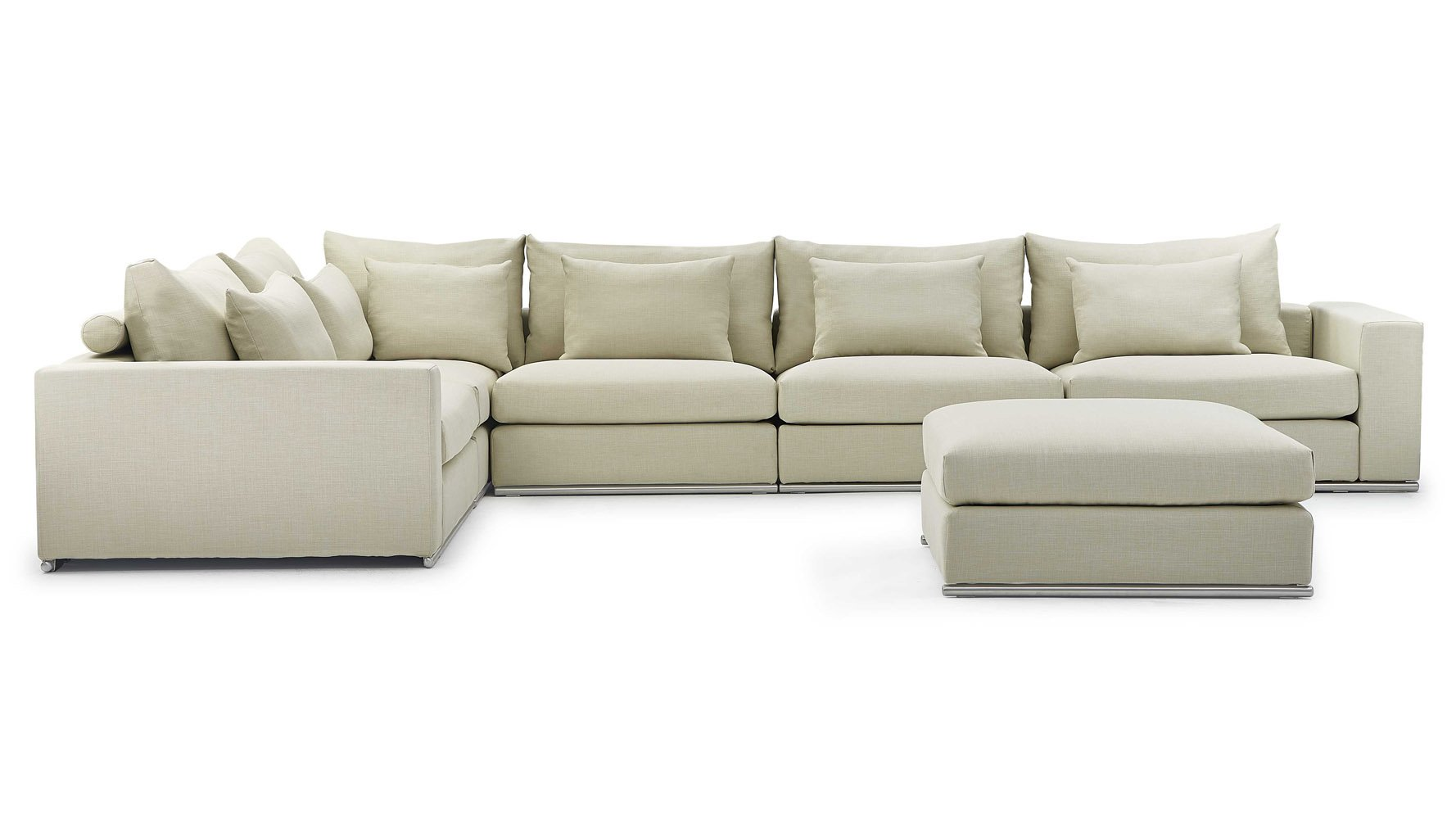 Pleasant Soriano L Sectional With Ottoman Beige Gmtry Best Dining Table And Chair Ideas Images Gmtryco