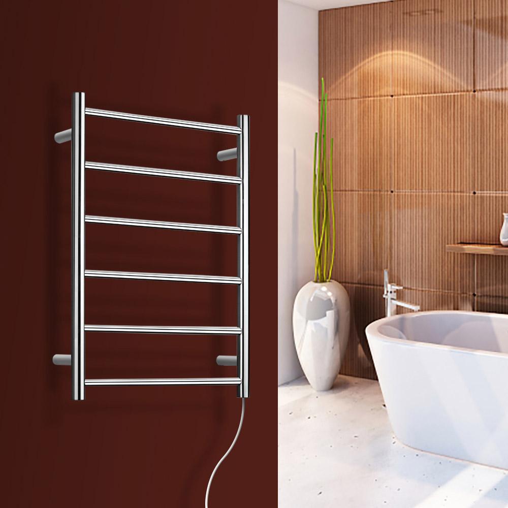 studio polished chrome bathroom towel warmer plug in zuri furniture. Black Bedroom Furniture Sets. Home Design Ideas