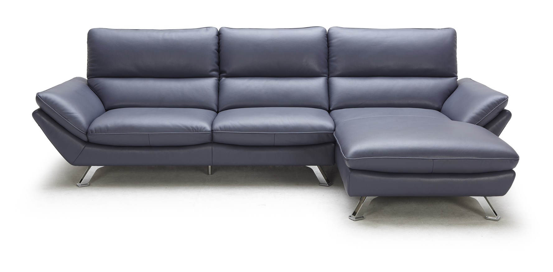 Blue leather sectional sofa hereo sofa for Andersen leather chaise sectional