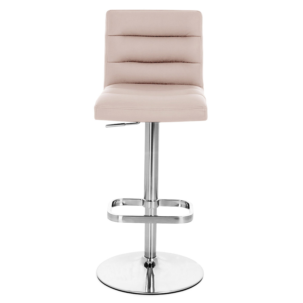 Lush Adjustable Height Swivel Armless Bar Stool With