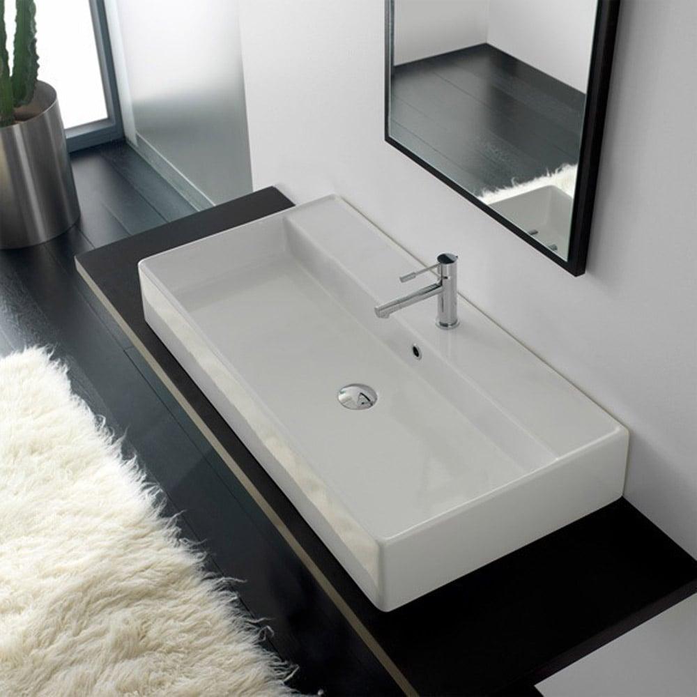 Teorema Wall Mounted 0 Hole Sink Zuri Furniture