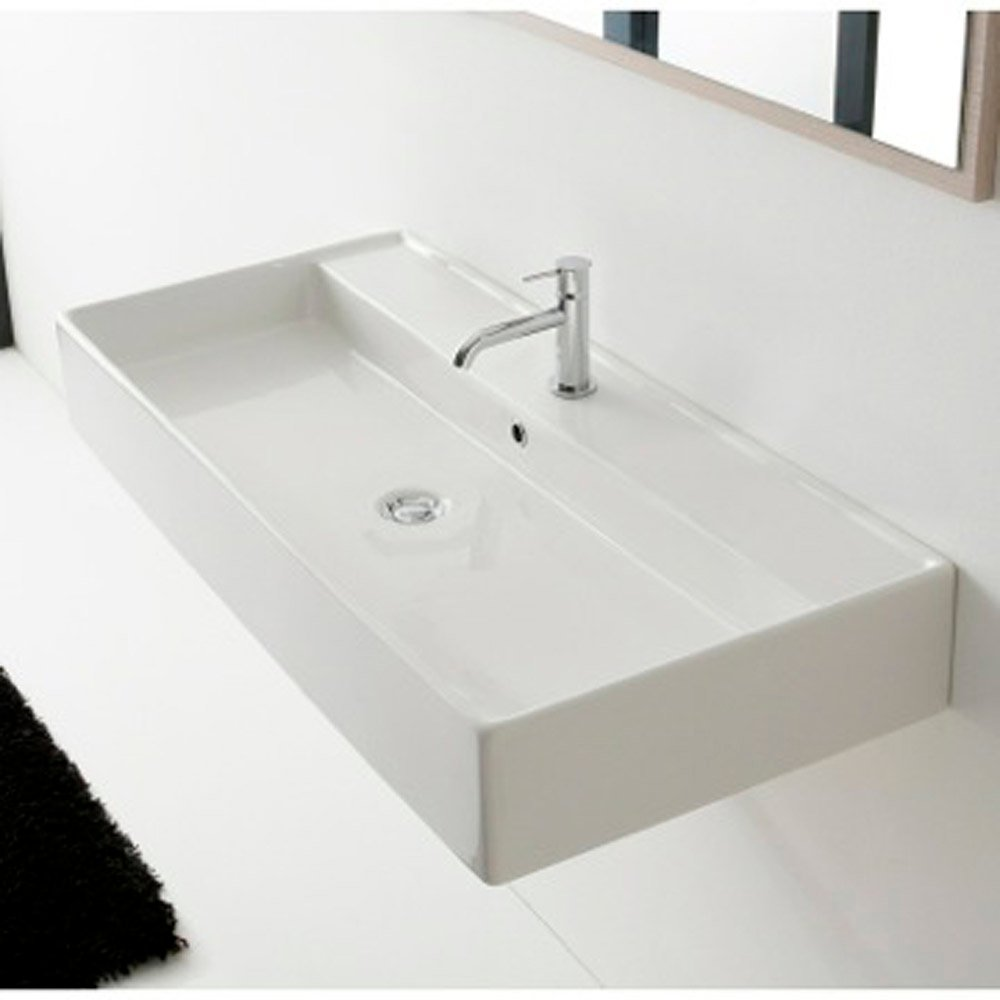Sink In Wall : Home / BATH / Bathroom Sinks / Teorema Wall Mounted - 1 Hole Sink