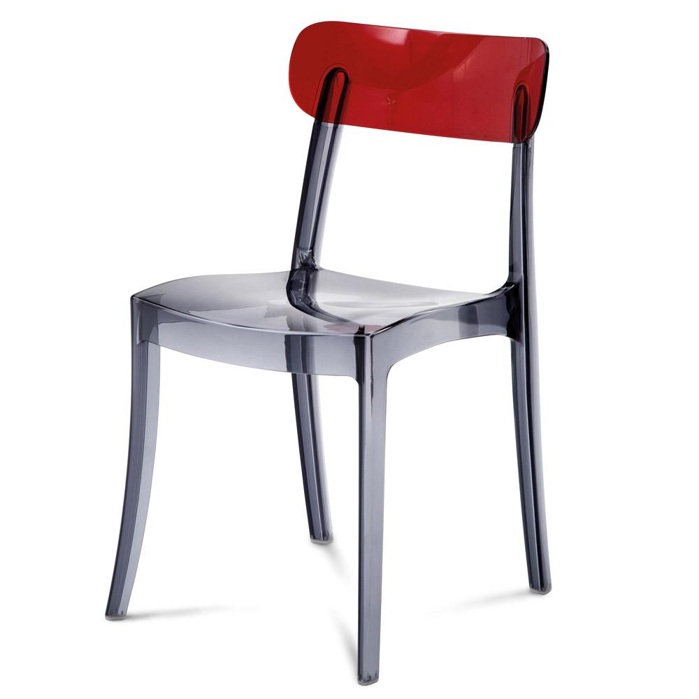 Transparent Polycarbonate Novo Dining Chair Set Zuri Furniture