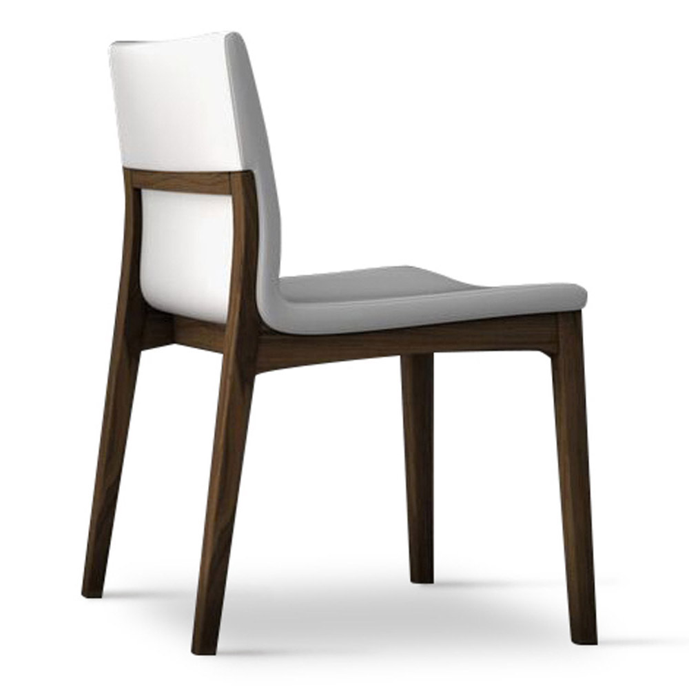 Trasimeno Eco Leather And Wood Dining Chair Set Of 2