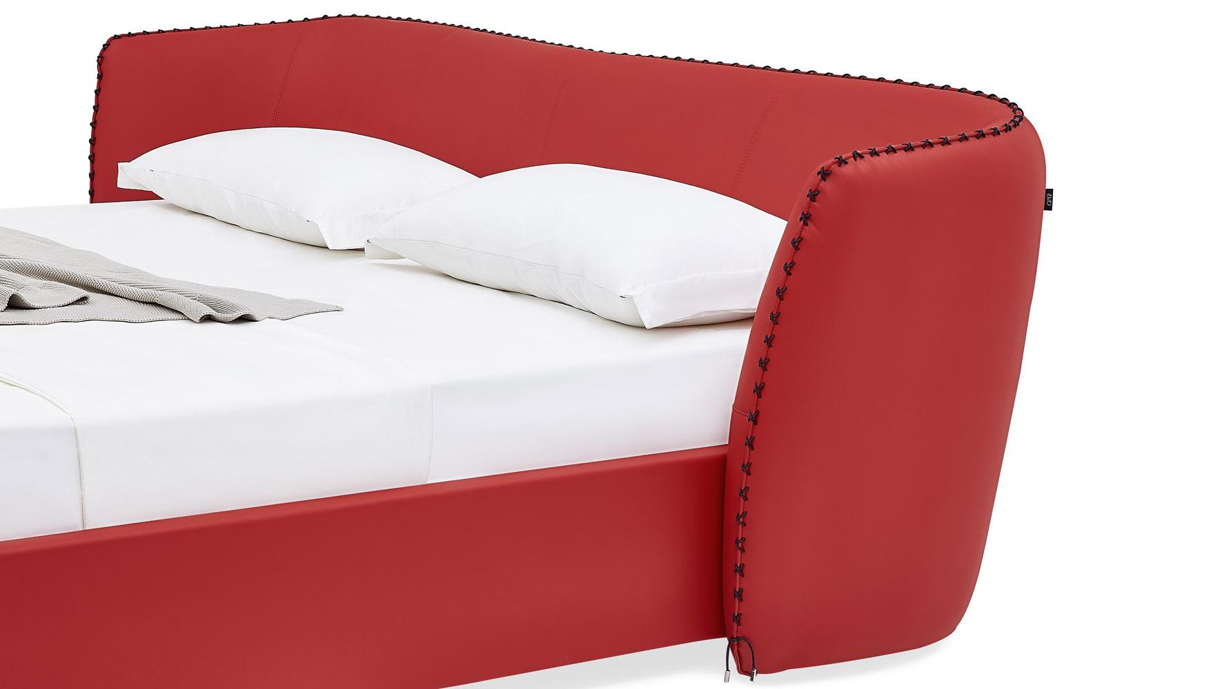 Red Sofa Bed Baci Living Room