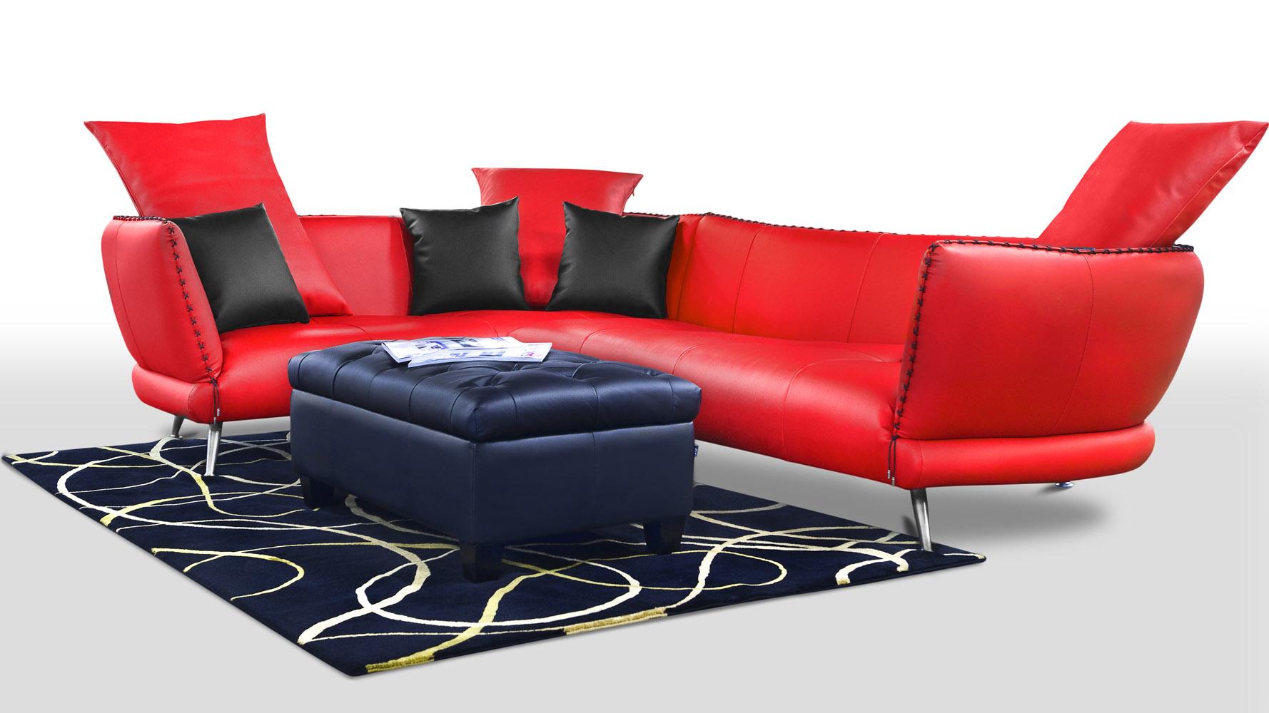 Vitali Aniline Top Grain Leather Sectional Zuri Furniture