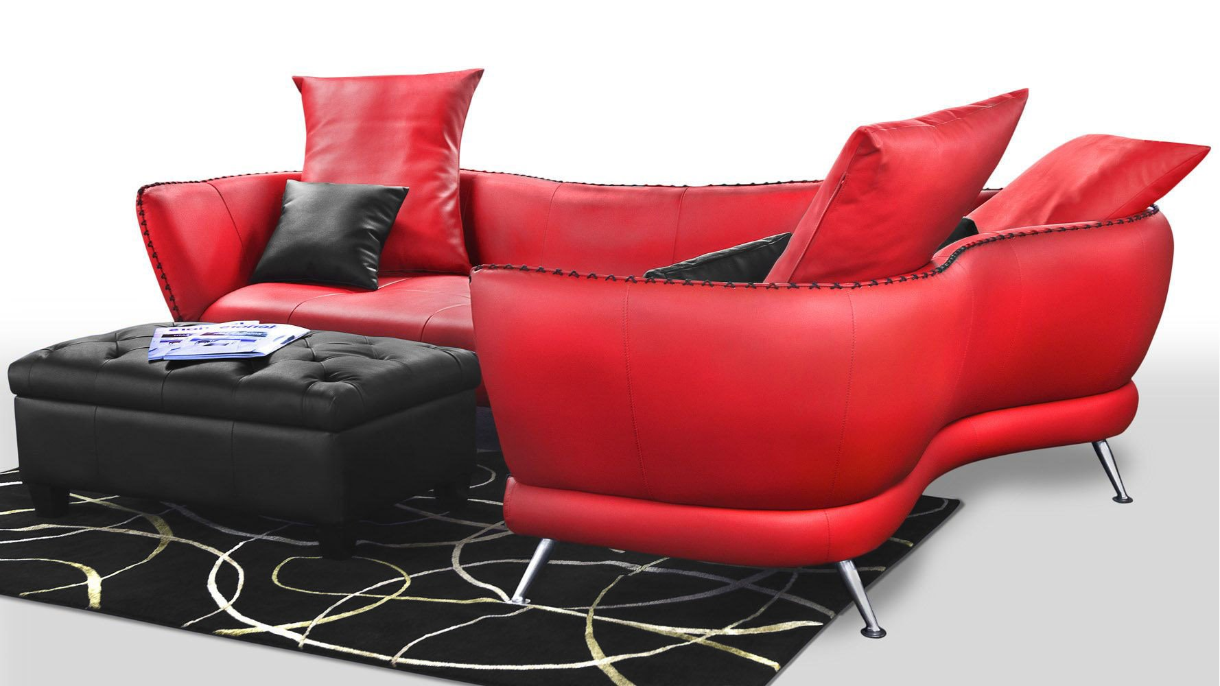 Vitali Microfiber Leather Sectional Zuri Furniture