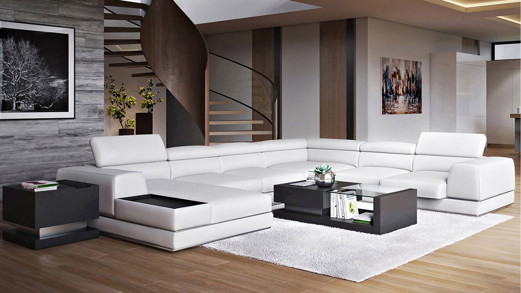 Wynn Sectional White