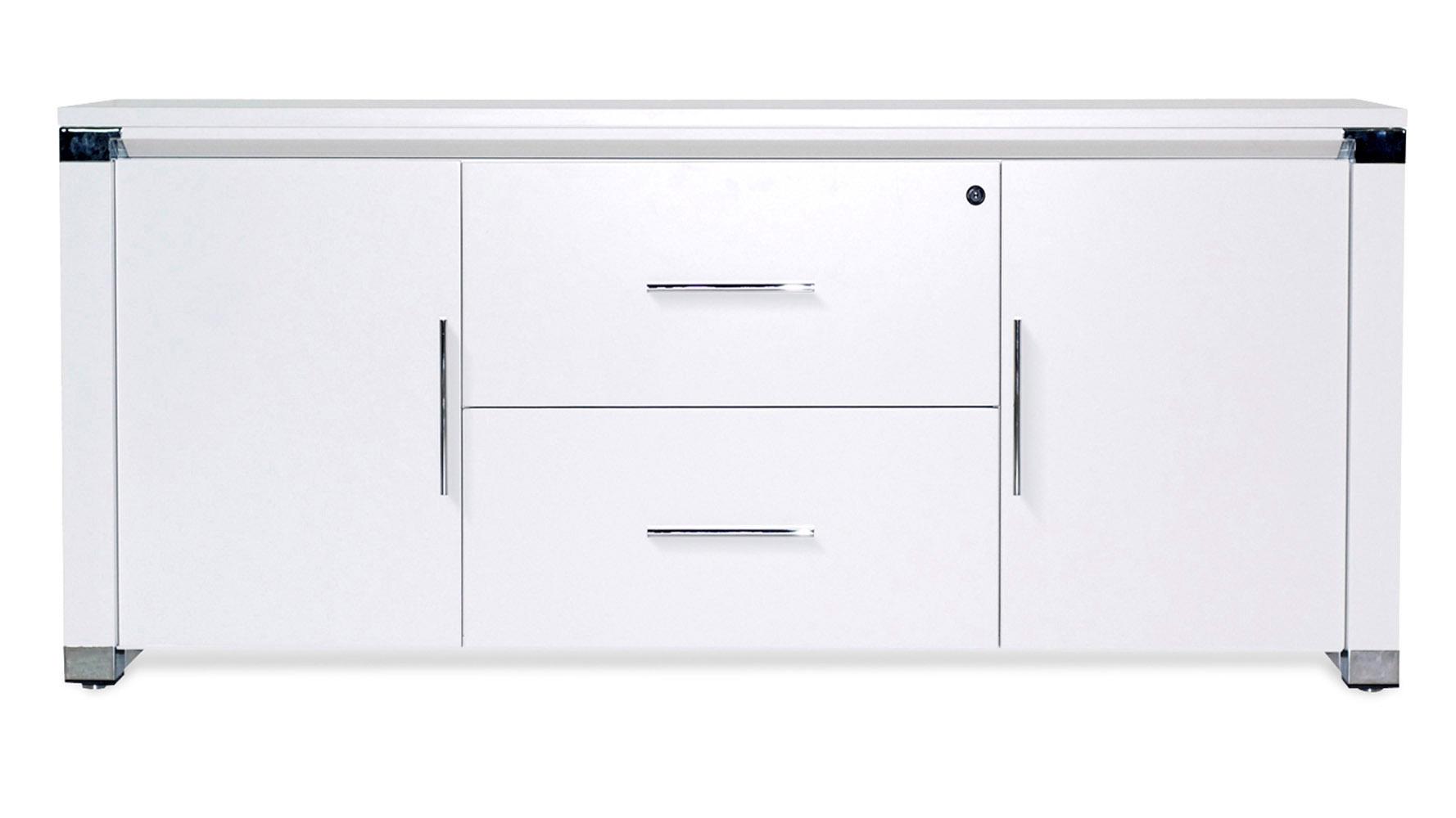 White Lacquer File Cabinet