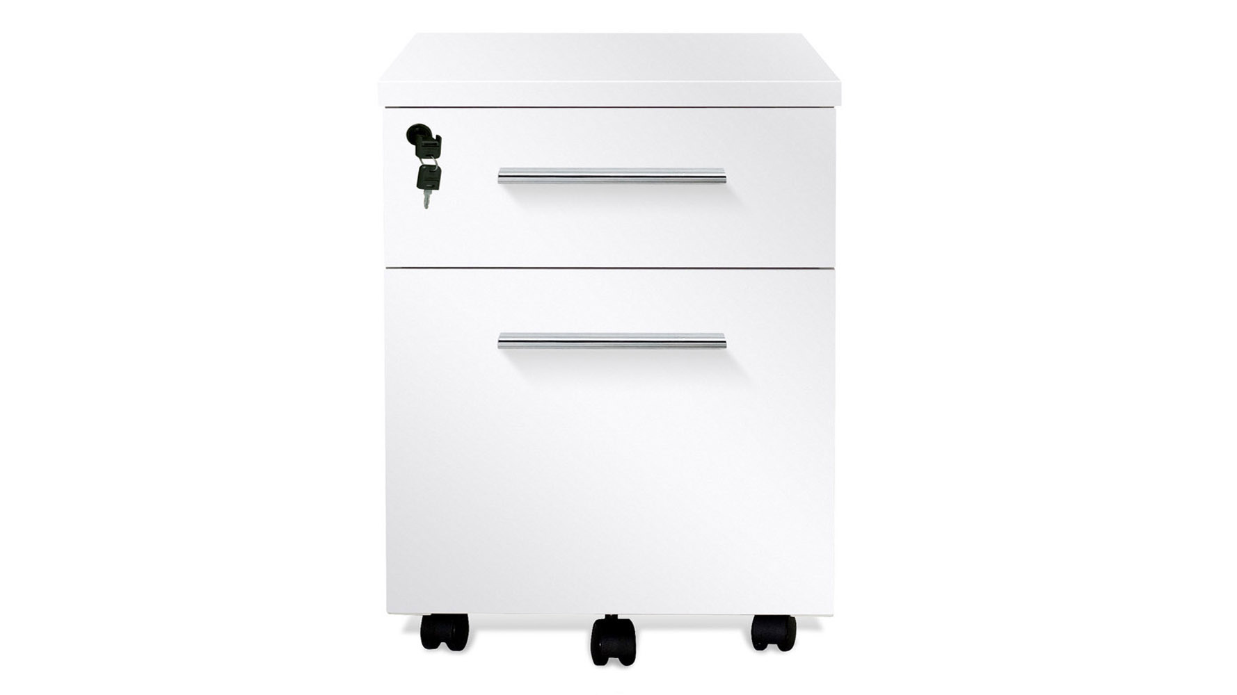 . white lacquer delano rolling file cabinet  zuri furniture
