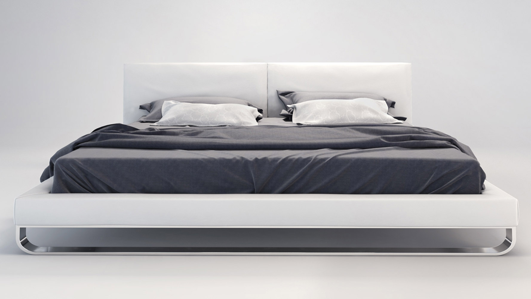 Platform bed frame white - Platform Bed Frame White 24
