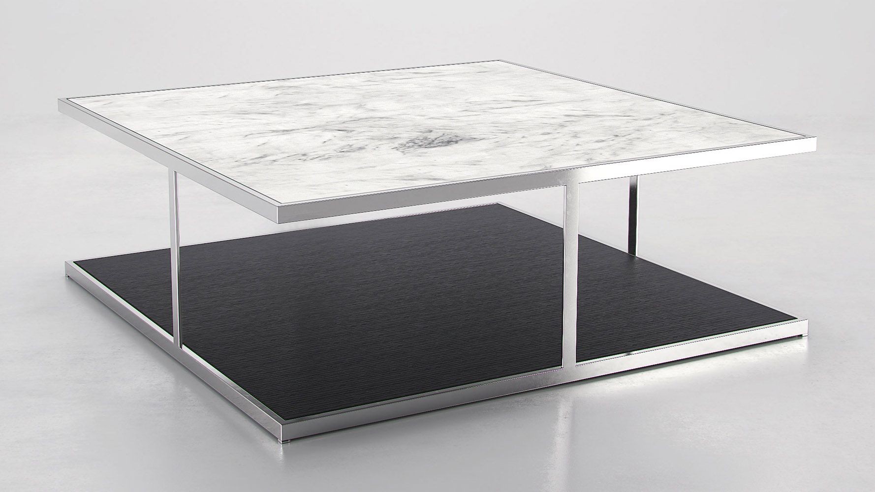 White Marble Coffee Tables Modernist White Marble Coffee