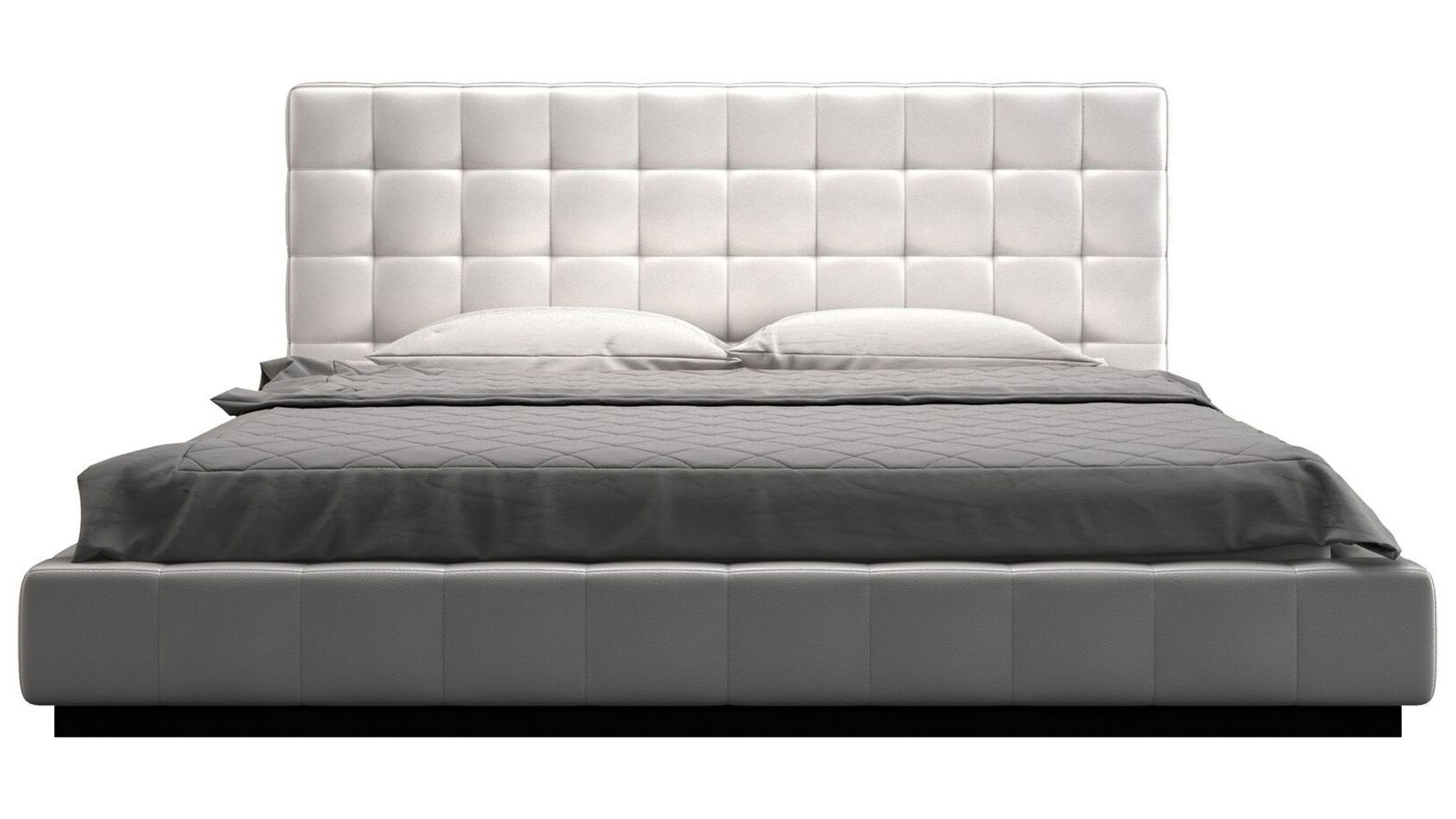 modern beds  contemporary beds  bedroom furniture  zuri furniture - verona bed  white