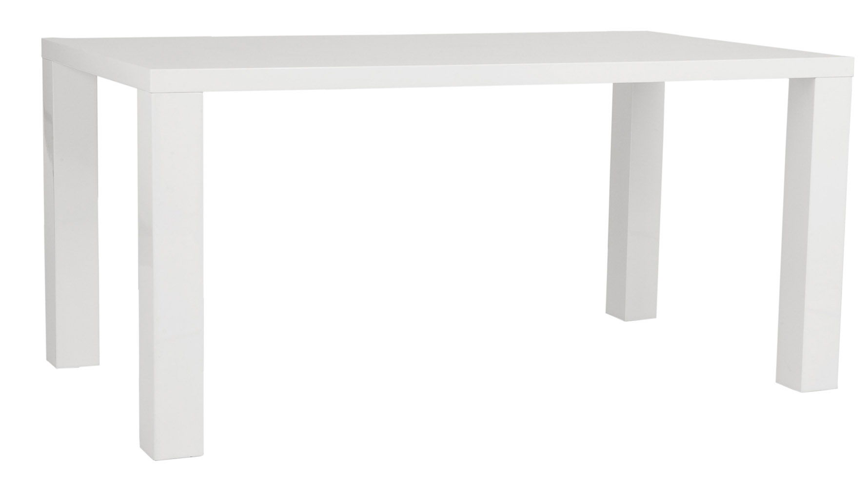 Wren Contemporary HighGloss Lacquer Dining Table Zuri Furniture - White lacquer dining table