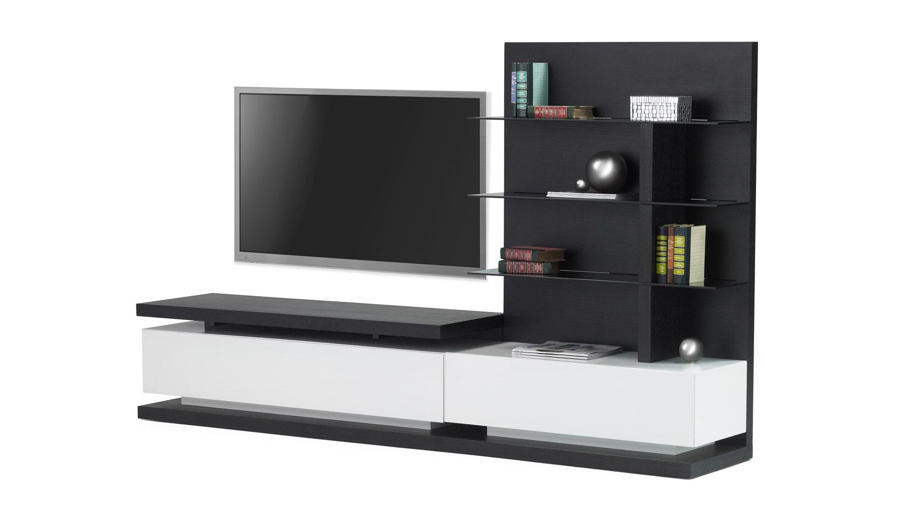 Wynton Espresso Contemporary Tv Stand For 55 Inch Tv