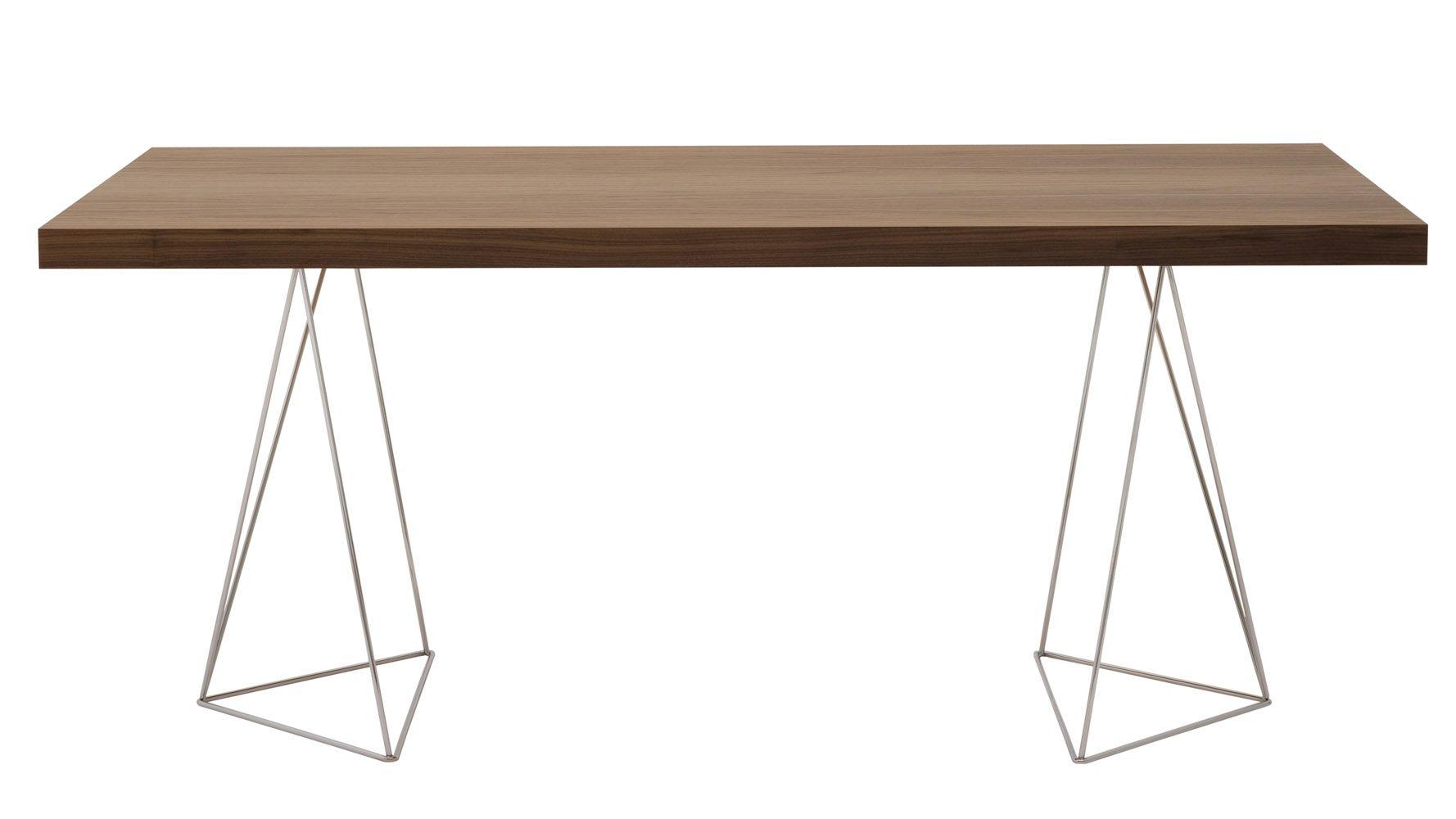 Zahara Table 71quot Zuri Furniture : zahara71 diningtablewithchromelegswalnut 1 from www.zurifurniture.com size 1778 x 1000 jpeg 81kB