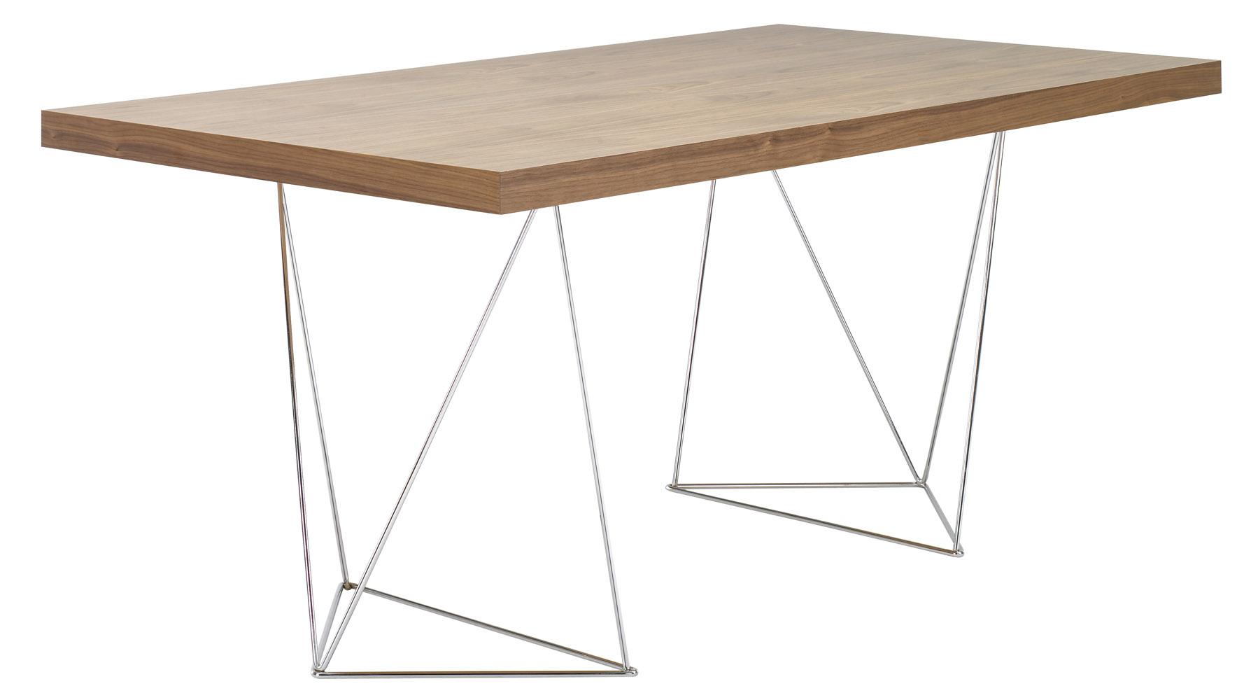 Zahara Table 71quot Zuri Furniture : zahara71 diningtablewithchromelegswalnut 2 from www.zurifurniture.com size 1778 x 1000 jpeg 146kB