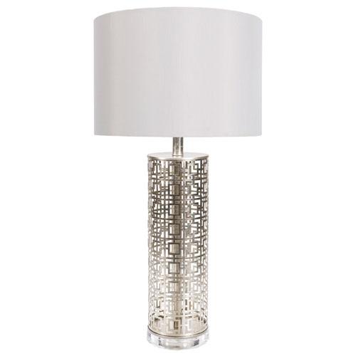Alainn Metal Base And Faux Silk Shade Table Lamp Zuri Furniture
