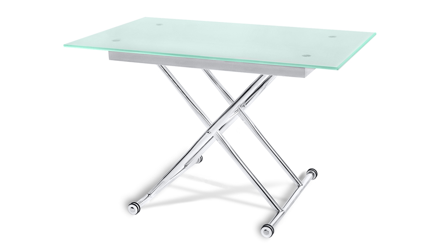 Alto adjustable height glass dining or coffee table zuri - Standard coffee table height ...
